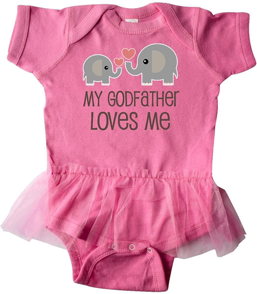 inktastic - My Godfather Loves Me Godson Gift Infant Tutu Bodysuit 2f58f