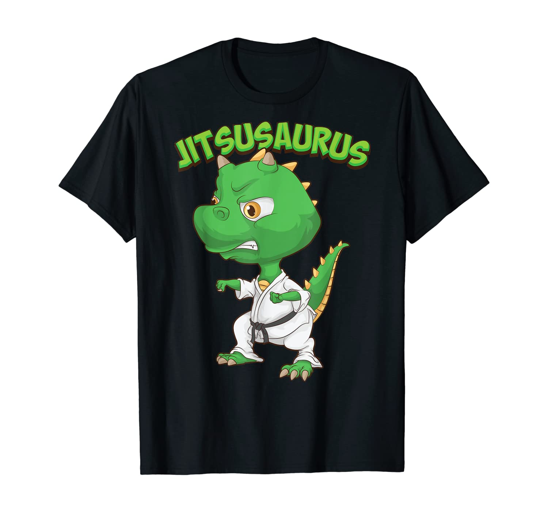 Funny Jitsusaurus | Cool Jiu Jitsu Gift Dinosaur Athlete Fan T-Shirt
