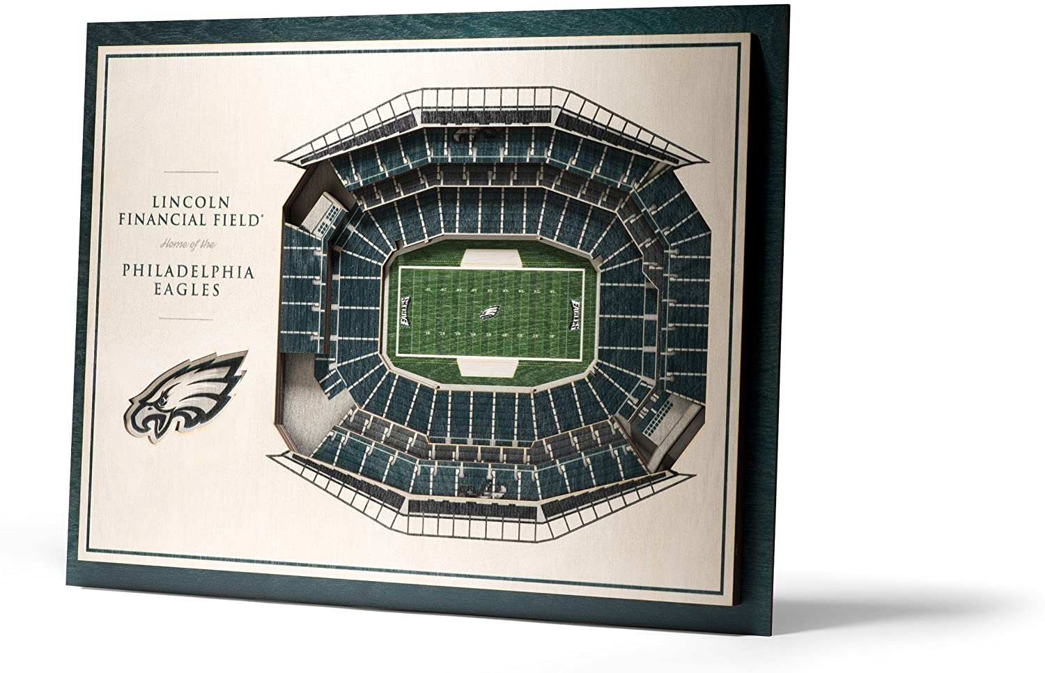 YouTheFan NFL 5-Layer 17 x 13 StadiumViews 3D Wall Art
