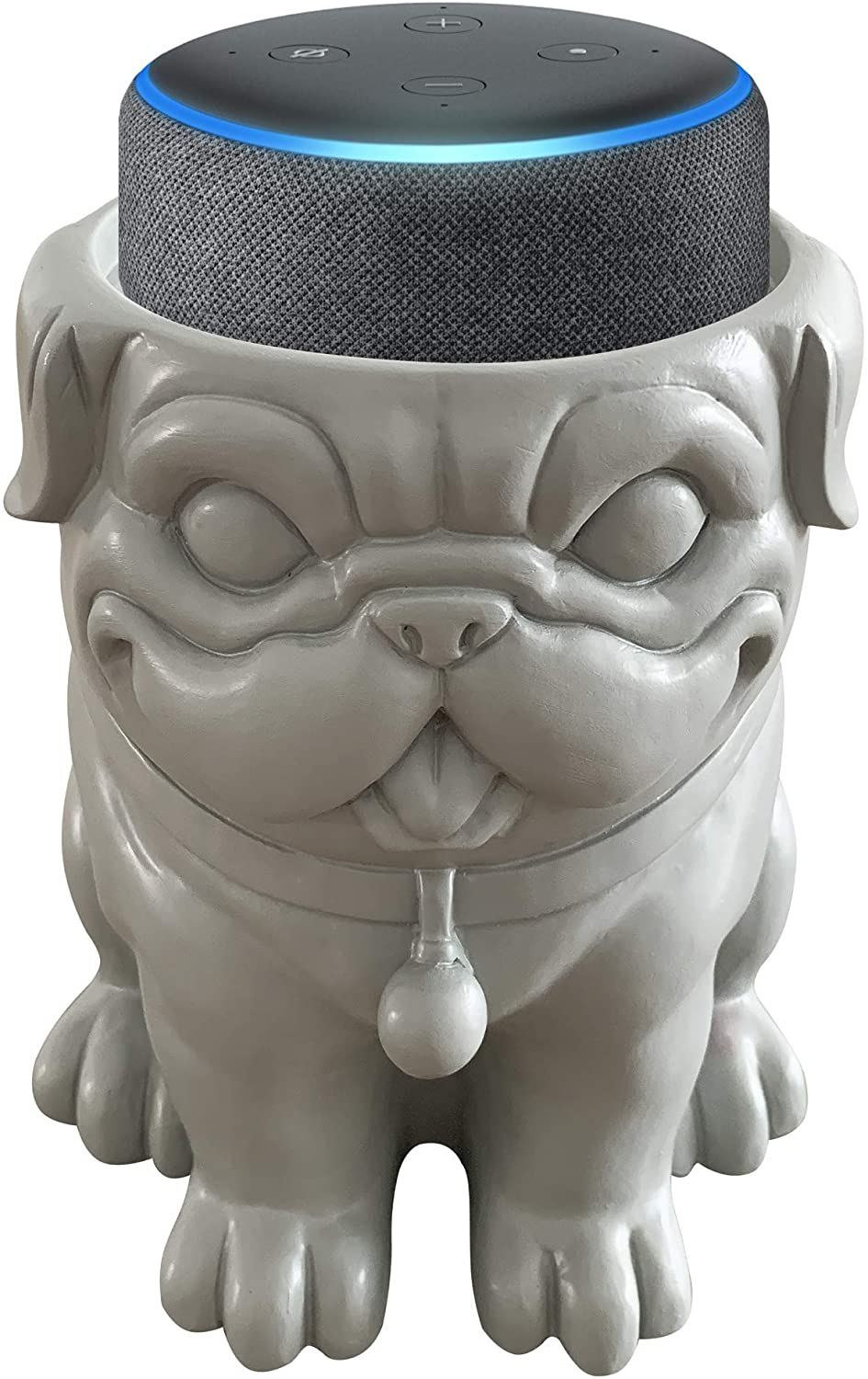 Dekodots Smart Speaker Table Stand (Dog) - Decorative Holder for DHgate Echo Dot or Google Home Mini - Portable Design, No Sound or Microphone Interference - Durable Poly-Resin