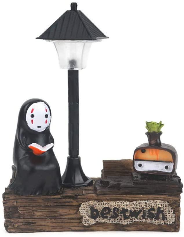 Spirited Away No Face Man Night Light Children Gift Kids Toy Home Decor Craft Decorative Sleep Lamp Chihiro Table Desk Lamp Miyazaki Hayao Anime Kaonashi (Black-9)