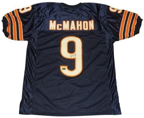 Jim McMahon Autographed Chicago Bears (Blue #9) Jersey