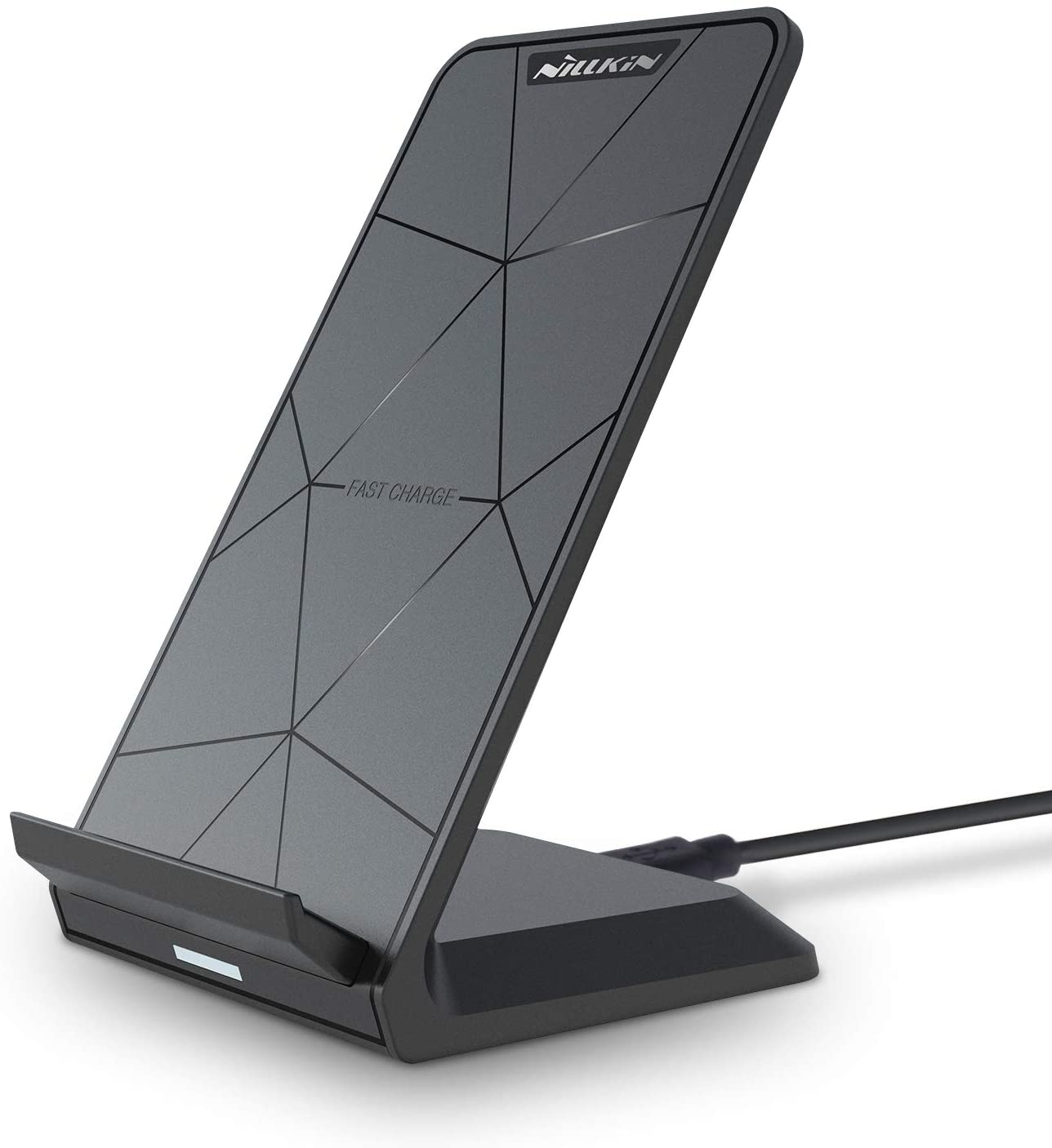 Nillkin Fast Wireless Charger Stand - 15W Qi Certified Wireless Charging Stand for iPhone /11/11 Pro/XS/SE/XR/X/8 Plus,Samsung Galaxy S20 S10 S9 S8 S7 Edge Note 20/10+/9/8 and More (No AC Adapter)