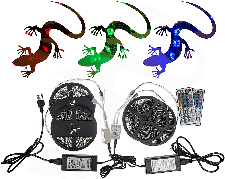 20M 5050SMD RGB LED Strip Light Kit 44 Key Remote 2 Outlet 5A Power Combo