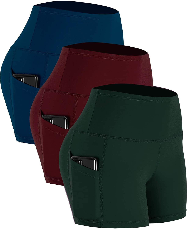 Cadmus Women's High Waist Dry Fit Athletic Bike Short Pockets