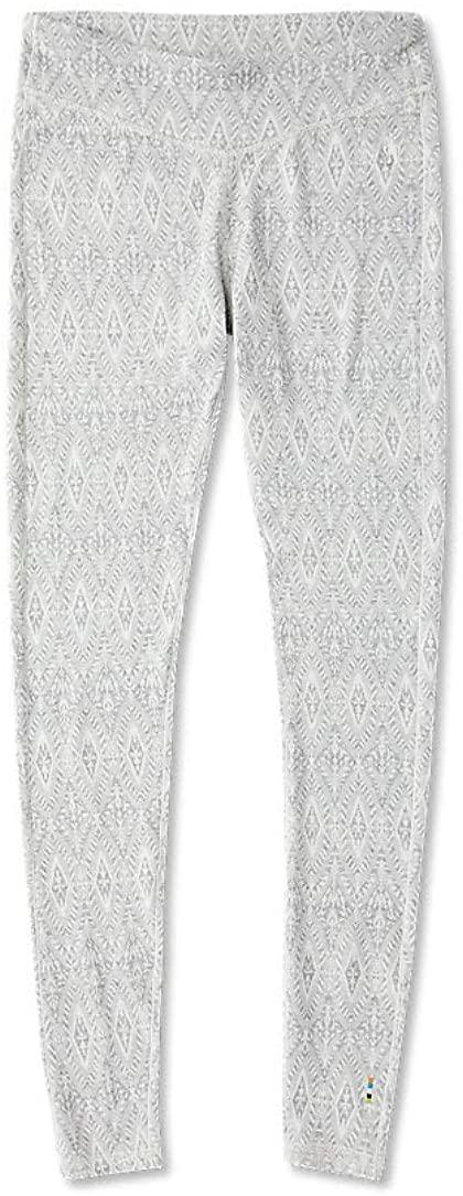 Smartwool Women's Baselayer Bottom - Merino 250 Wool Pattern Performance Pants ASH Medallion Small
