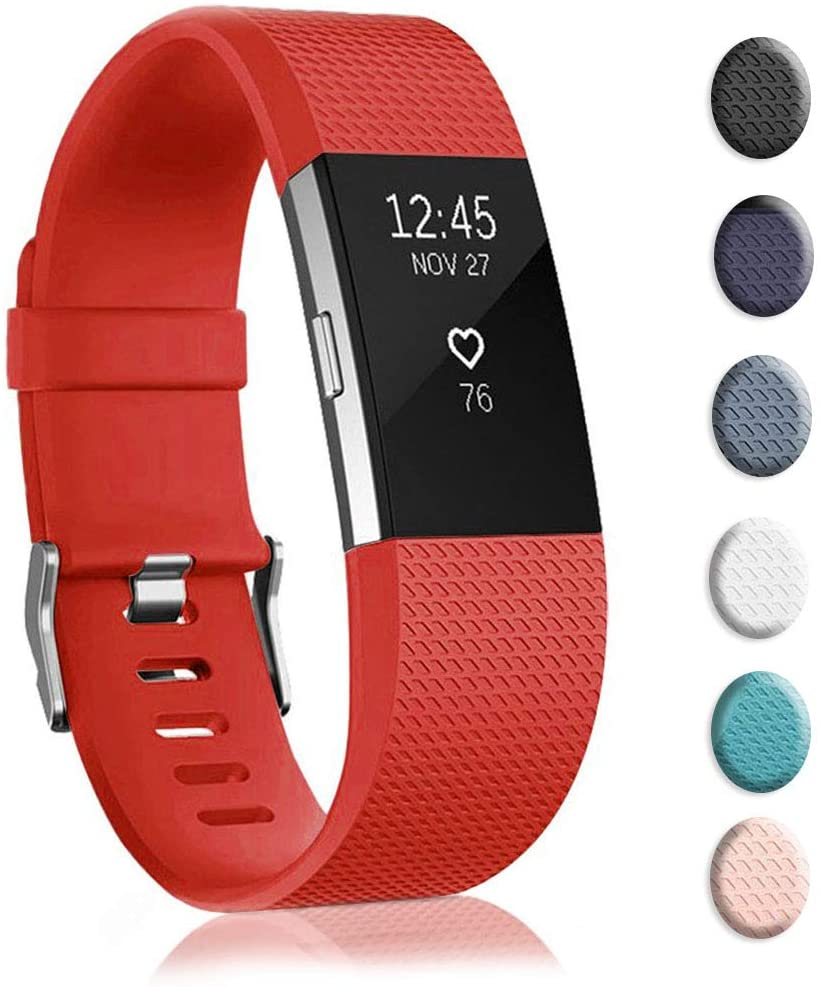 Ctrrip Bands Replacement Compatible for Fitbit Charge 2, Wrist Accessories Sport Wristbands for Women&Men