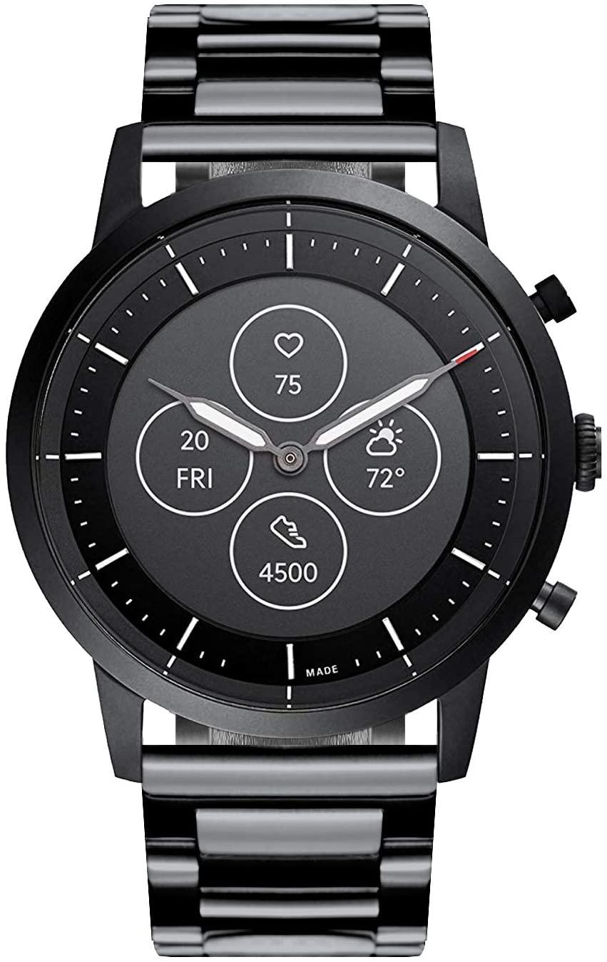 BINLUN Watch Band Compatible with Fossil Q Venture Gen 5/Gen 4/Gen 3/Sport 41mm 43mm/Hybrid Smartwatch Stainless Steel Metal Straps Replacement 18mm 22mm 24mm Metal Business Watch Bracelet