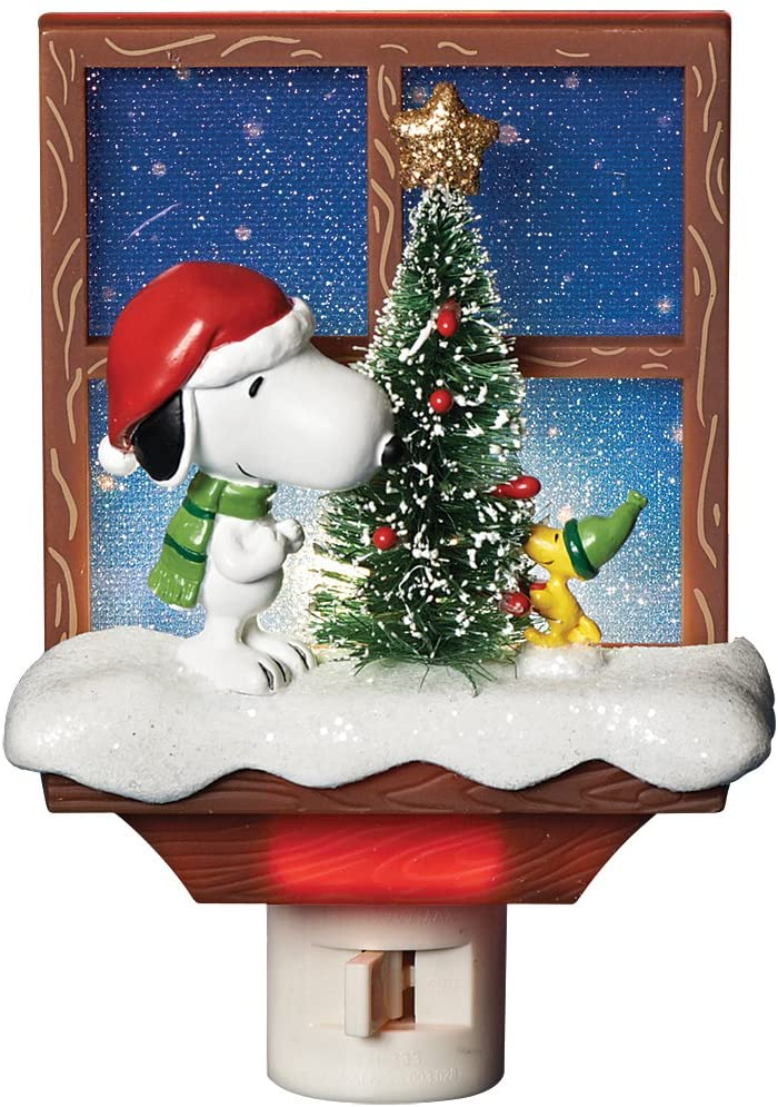 Roman 30276 Peanuts Snoopy Nightlt6, Multi-Colored, 6 X 4 Multicolor