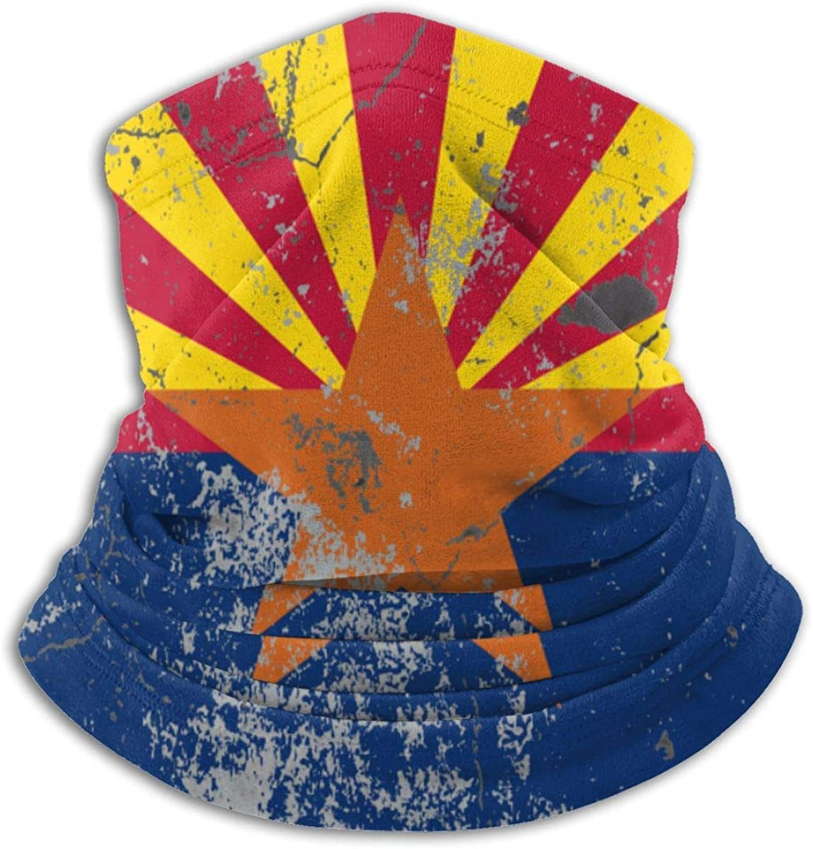 Arizona Flag Retro Neck Warmer Gaiter Balaclava Ski Mask Cold Weather Face Mask Winter Hats Headwear for Men Women Black