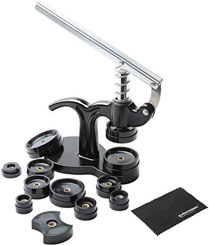 Eventronic 14pcs Watch Press Set,18mm to 50mm Watch Case Closer, Watch Repair Kit (black)