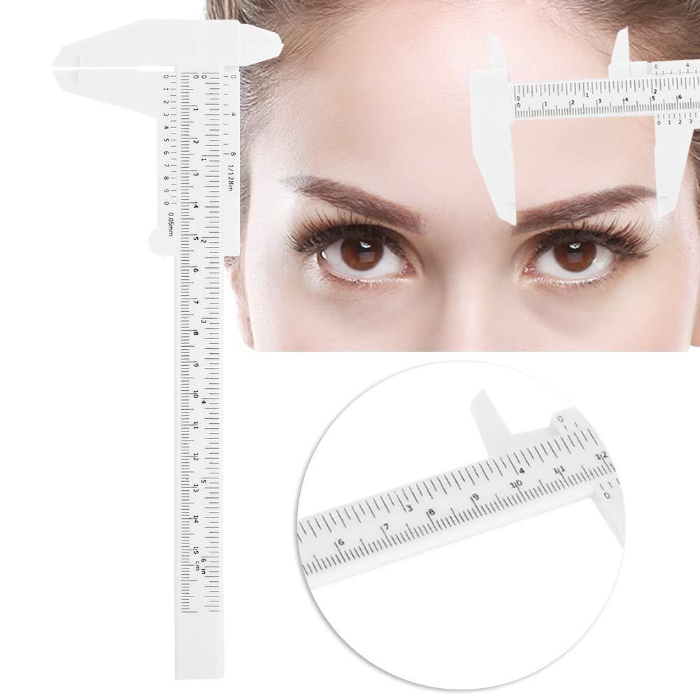 Eyebrow Tattoo Ruler, 8 Types Golden Ratio Eyebrow Stencils Eyebrows Shape Balance Extension Ruler Shape Stencil for Beginner or Professional User