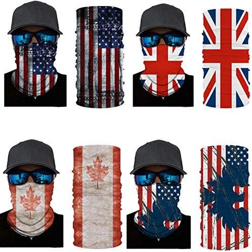 4pcs 3D Print Multifunction Outdoor Headwear Face Dust Mask Cover Bandanas Magic Scarf