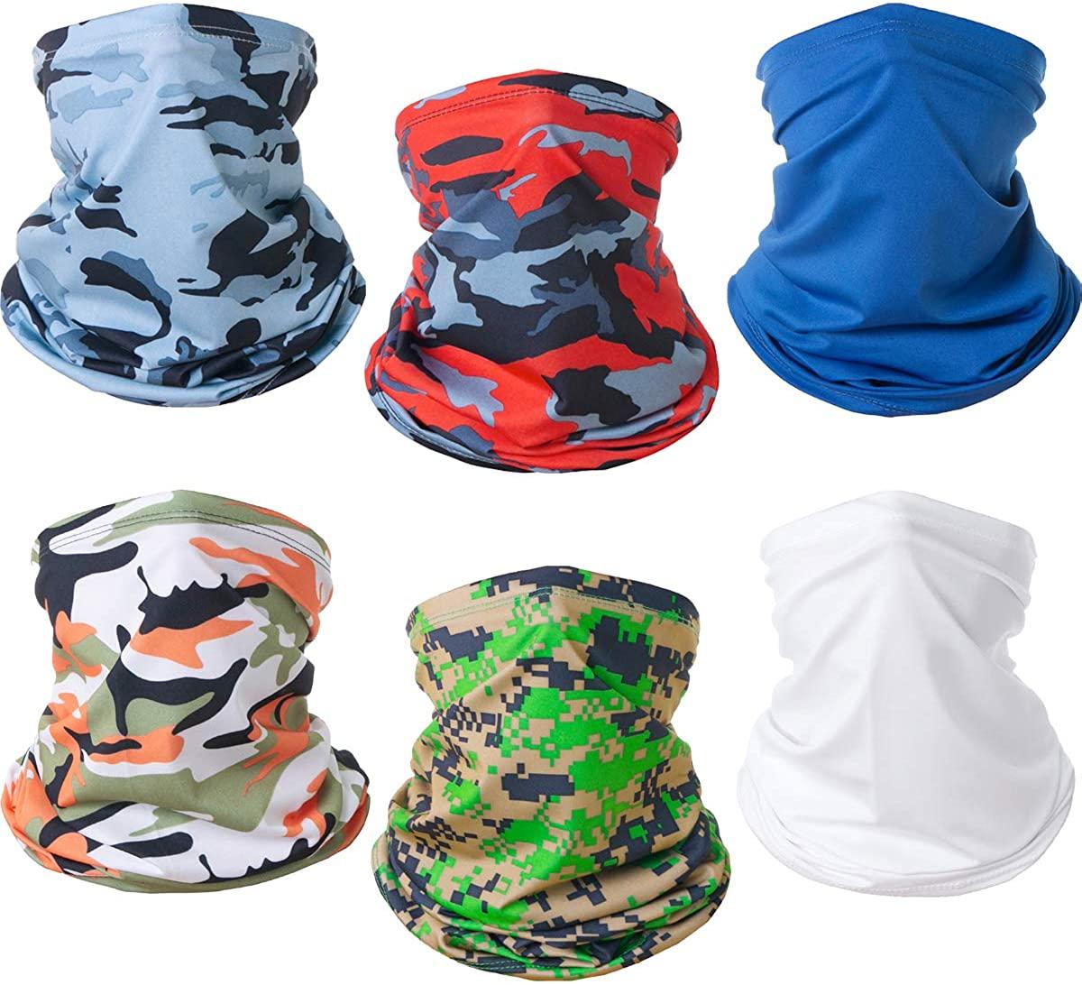 CAMTOP UV Protection Neck Gaiter Face Mask for Men Women Cooling Bandana Mask Camo Fishing Mask