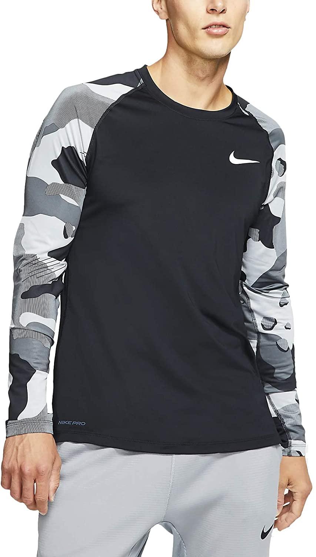 Nike Mens Pro Long Sleeve Camo Slip T-Shirts Top Bv5519-010