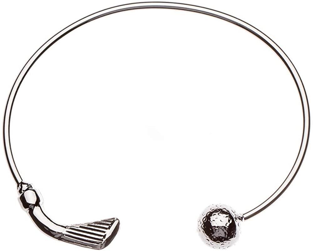 Sportybella Golf Bracelet, Golf Jewelry- Golf Cuff Bangle Bracelet for Female Golf Players