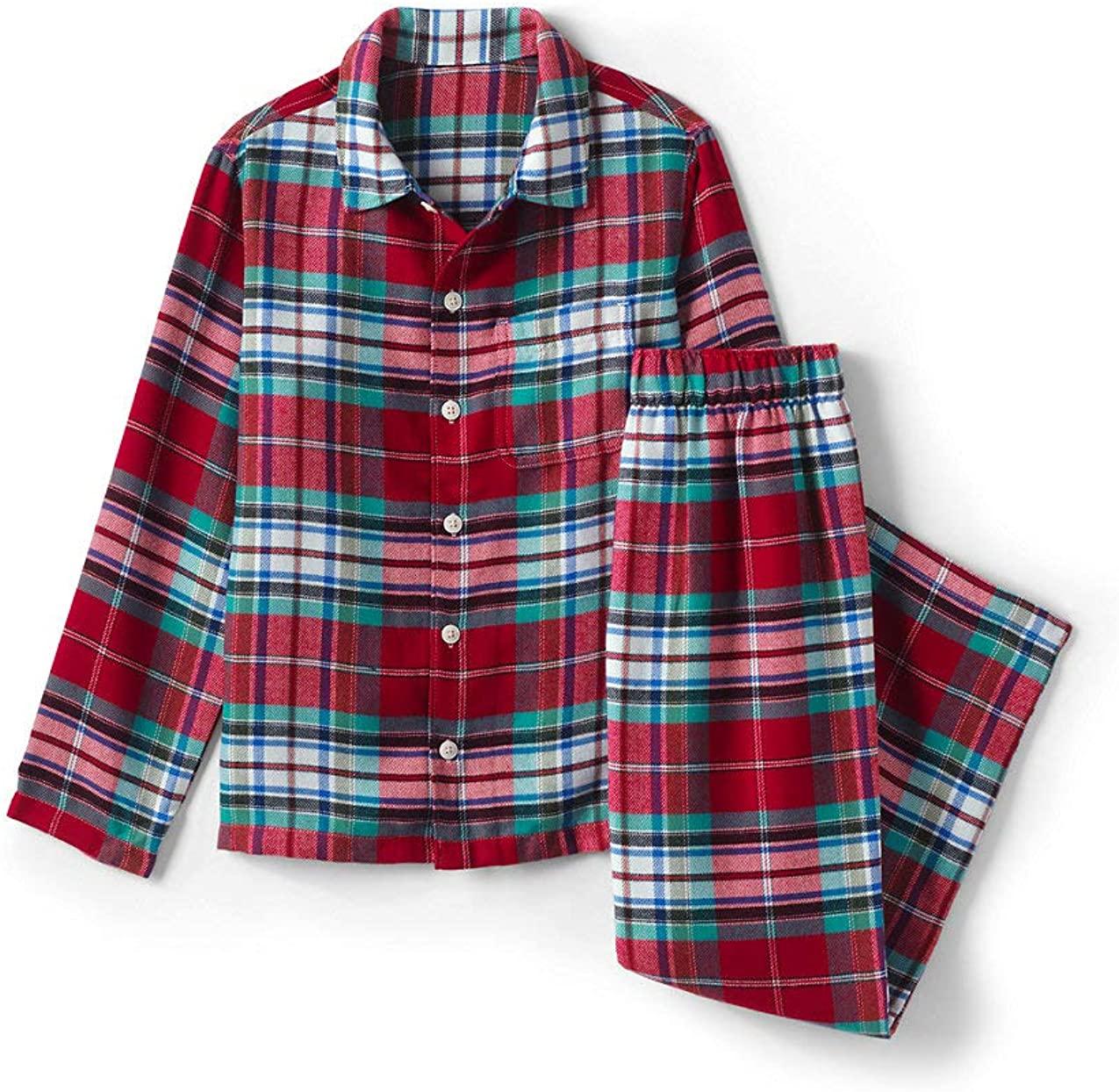 Lands' End Boys Flannel Pajama Set