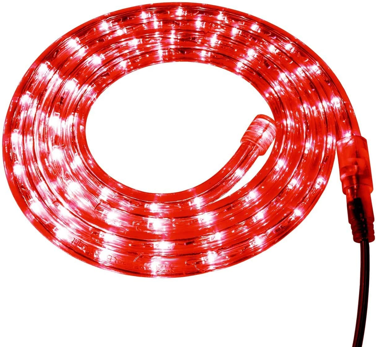 Brilliant Brand Lighting Red LED Rope Light - 120 Volt - Custom Cut - 19.68 Feet