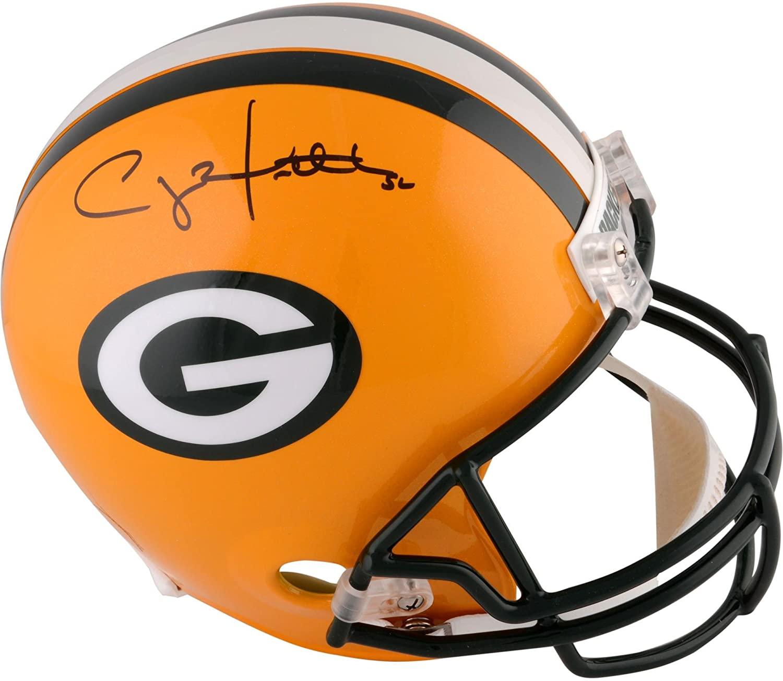 Clay Matthews Green Bay Packers Autographed Riddell Replica Helmet - Autographed NFL Helmets