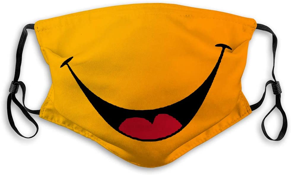 NYNELSONG Outdoor Sport Half Shield Dust Face Shield Smile Smiley Cartoon