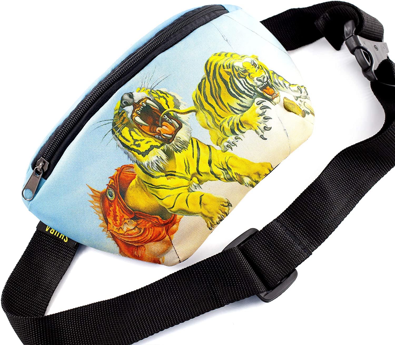 ShubaGiftFactory Art Bag Belt Funny Gifts Waist Packs, Waist Pocket, Masterpiece Gifts, Adjustable Belt Bag, Famous Art Canvas, for Travellers