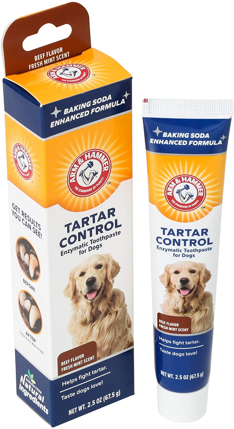 Arm & Hammer Dog Dental Care Toothpaste for Dogs | No More Doggie Breath with Enzymatic Dog Toothpaste for Dogs in Chicken Flavor with Fresh Mint Scent | Dog Toothpaste is Safe for Puppies