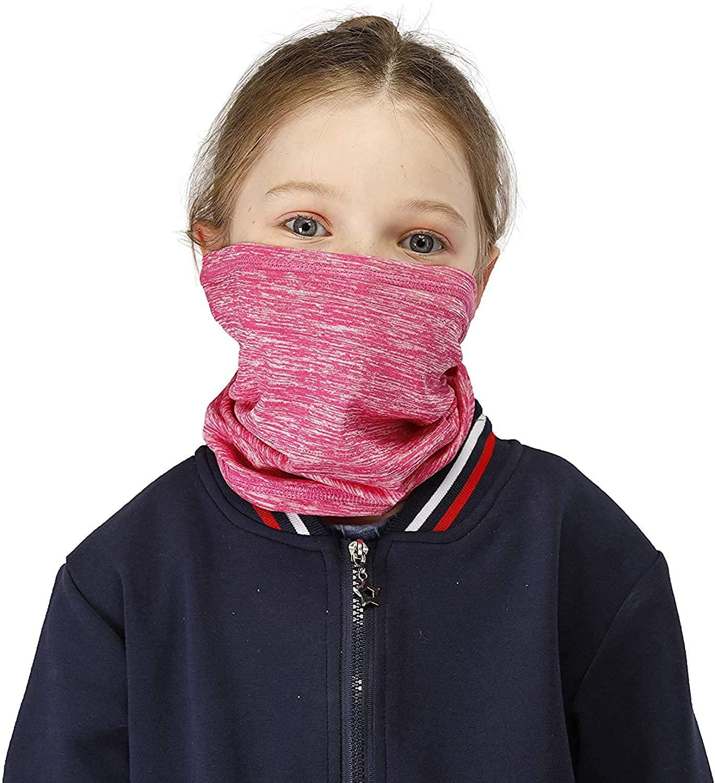 Neck Gaiter Bandana with Carbon Filter for Men Women Kids, 2 Pack Face Covering