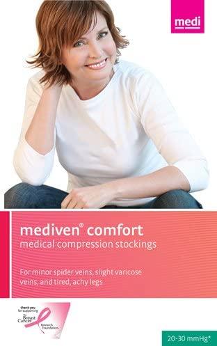 Mediven Comfort 20-30 mmHg Closed Toe Compression Stockings Knee Highs VII Petite, Mocha