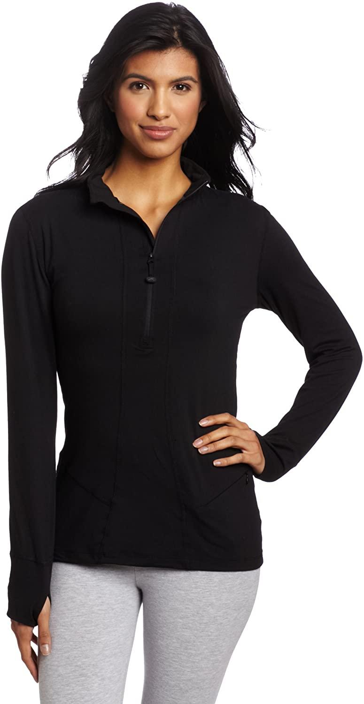Terramar Women's Cloud Nine 4-Way Stretch Brushed Half Zip Jacket