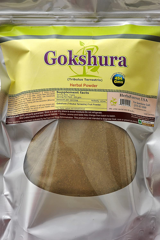 Gokshura Powder (Tribulus Terrestris) (Ayurvedic Herbs from Natural Habitat) 16 Oz, 454 GMS, 2X (Optimum Potency)