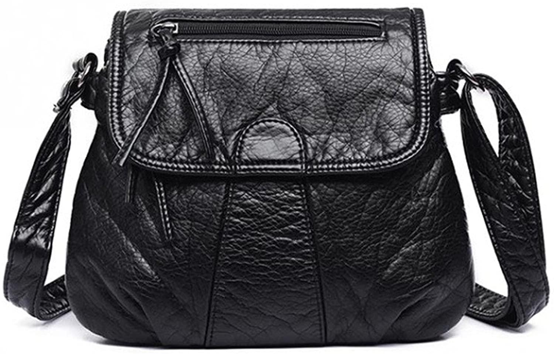 Shoulder Handbag Soft Black Faux Leather