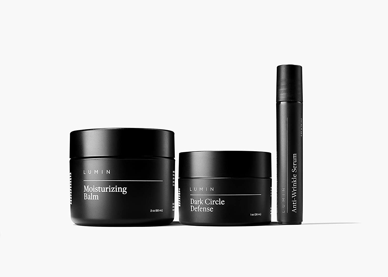 Age Management Collection for Men: 3 Piece Kit to Help with Clogged Pores, Dark Circles, Fine Lines, Wrinkles, Dryness, and Acne Scars - Achieve Your Best Look with Lumin
