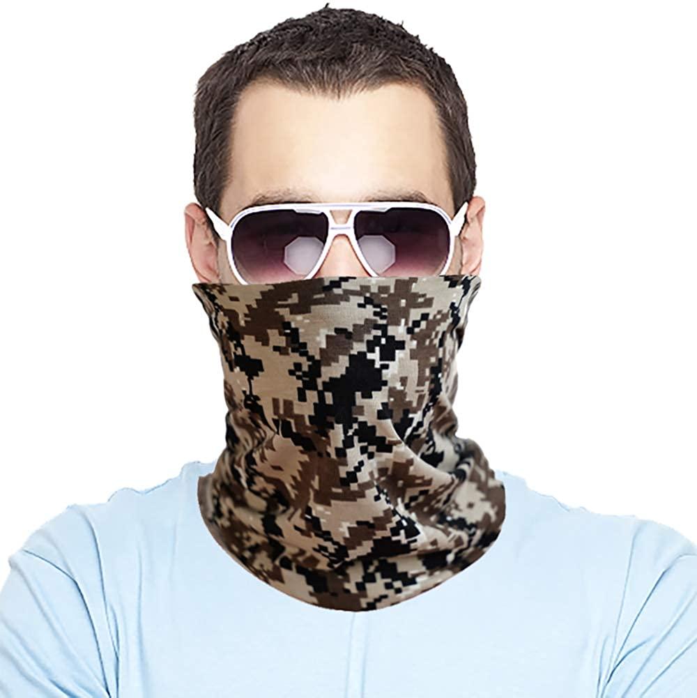 Bandana for Camouflage Face Mask Dust Wind UV Sun,Neck Gaiter Tube Mask, Face Mask for Workout Running Hiking