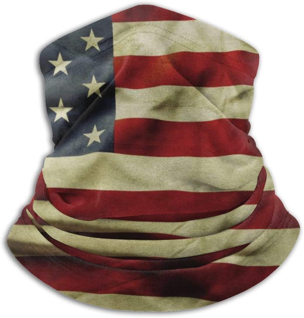 ~ Old Glory Weathered American Flag Unisex Seamless Bandana,Face Mask Multifunction Neck Gaiter Headwear