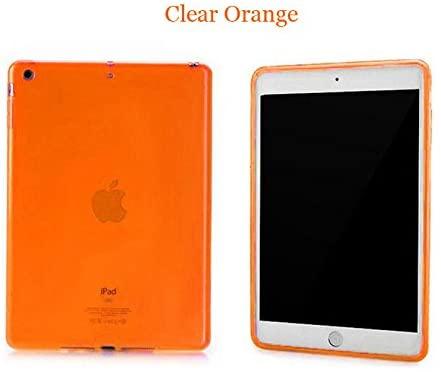iPad Mini Case, Mocase Ultra-Thin Clear Soft Skin TPU Rubber Gel Protective Case for iPad Mini / iPad Mini Retina (TPU-Orange)