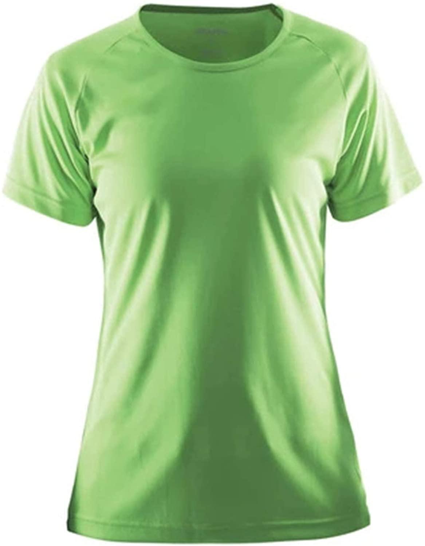 Craft Women's Essential Tee Dry-Fit Short Sleeve T-Shirt - Lightweight, Technical Women's Athletic Shirt