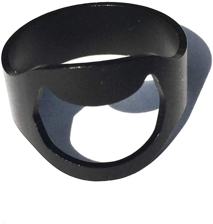1PC Bottle Opener Ring Stainless Steel Finger Ring Bottle Opener Durable Lightweight Ring Bottle Opener Ring Beer Coke Bottle Opener Black