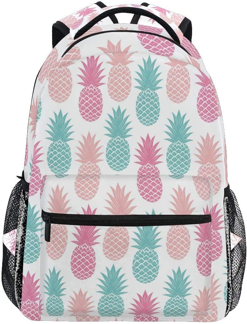 ALAZA Colored Pineapple Fruit Backpack Daypack College School Travel Shoulder Bag