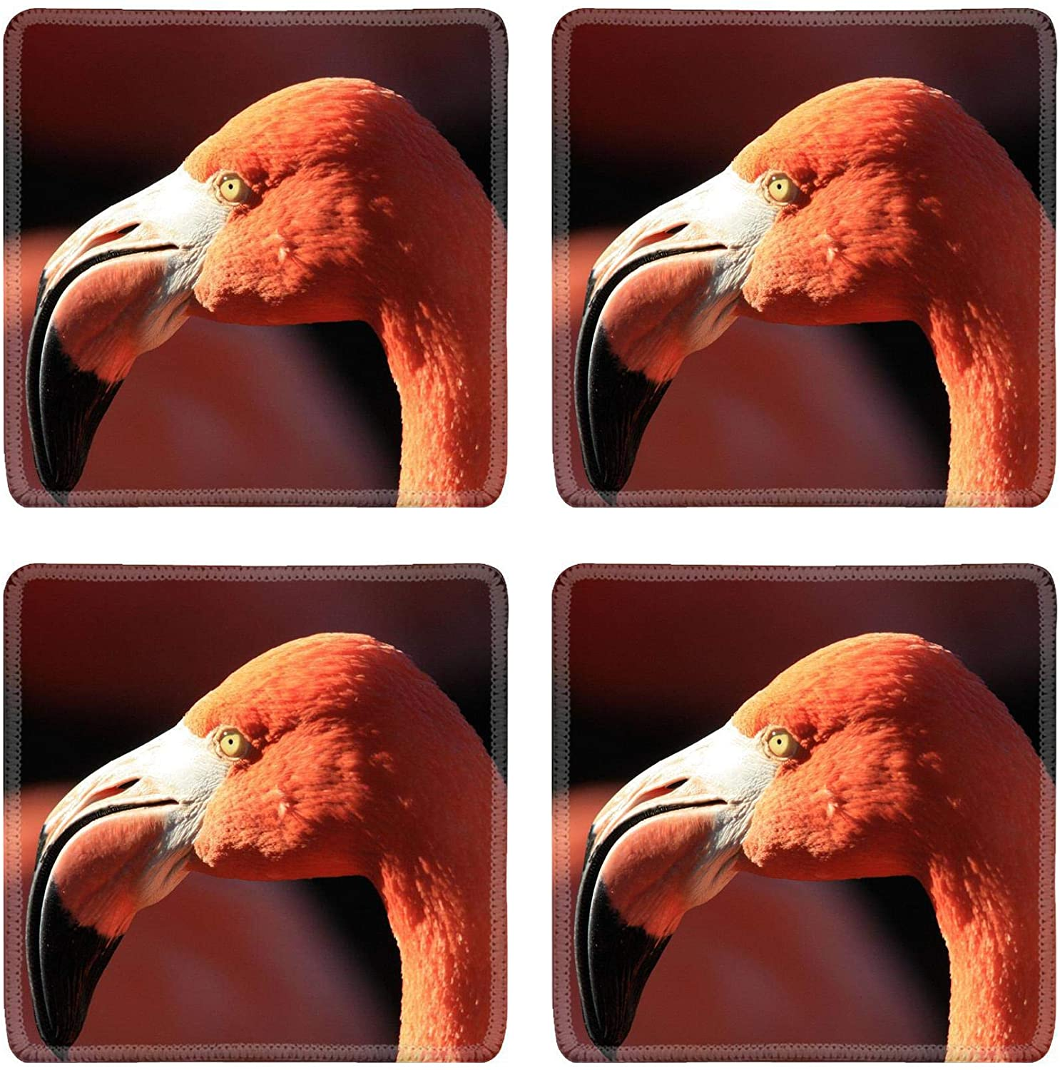 MSD Drink Coasters 4 Piece Set Image ID: Flamingo Image 33440752 Stain Resistance Collector Kit Kitchen Tab