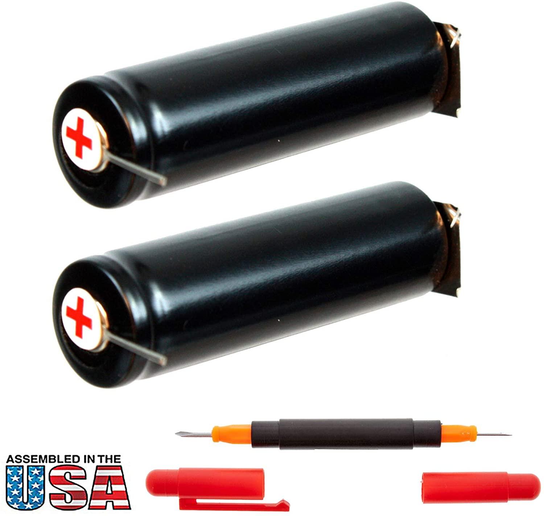 2x 1.2V Razor Battery For Philips Norelco Cordless Electric Razors Replaces RAZOR-20