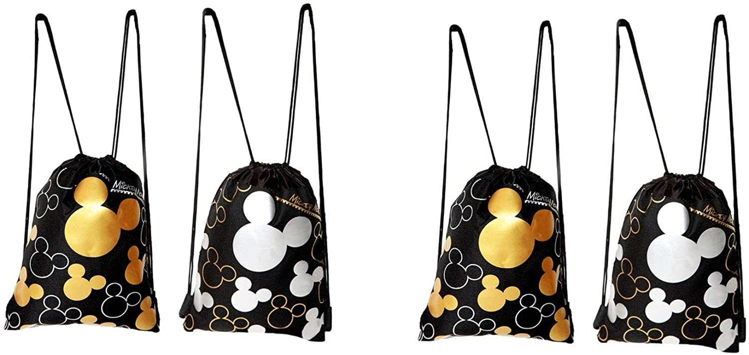 2 X Disney Mickey Mouse Drawstring Backpack 2 Pack