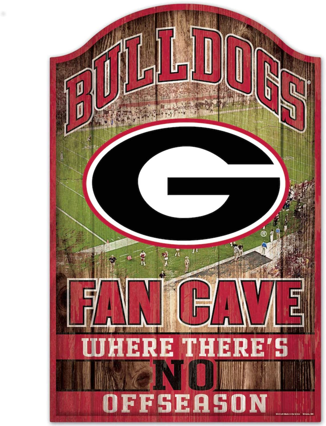 Wincraft Collegiate Fan Shop Authentic NCAA Fan Cave Wooden Sign. Stake Your Territory with This Sign. for The Office or Man Cave. This 11