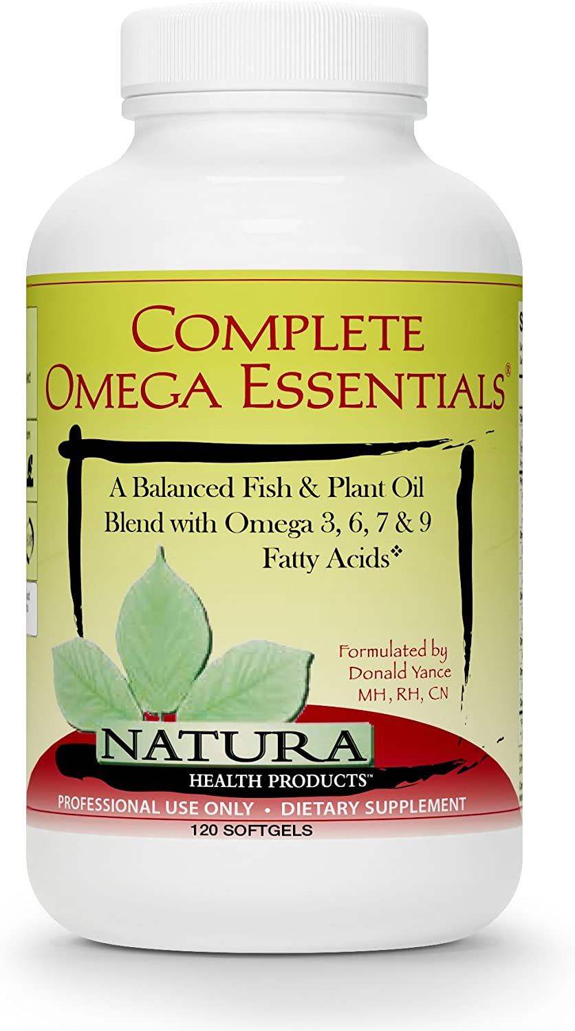 Natura Health Products - Complete Omega Essentials - Premium Fish Oil Concentrate with Sea Buckthorn and Borage Seed Oils for Optimal Ratios of Omega 3, Omega 6, Omega 7, and Omega 9 Fatty Acids