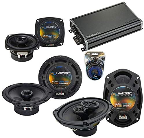 Compatible with Infiniti G35 (Coupe) 2003-2007 Speaker Replacement Harmony Audio Bundle Speakers & CXA360.4