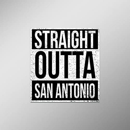 Straight Outta San Antonio Vinyl Decal Sticker | Cars Trucks Vans SUVs Laptops Walls Windows Cups | Full Color | 4.5 X 5 Inches | KCD2103