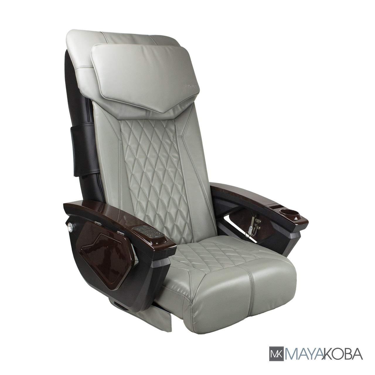 Shiatsulogic Pedicure Chair Cushion Cover Set for Nail Salon Pedicure Furniture, Luxurious & Modern, Tufted Design, Storm Grey