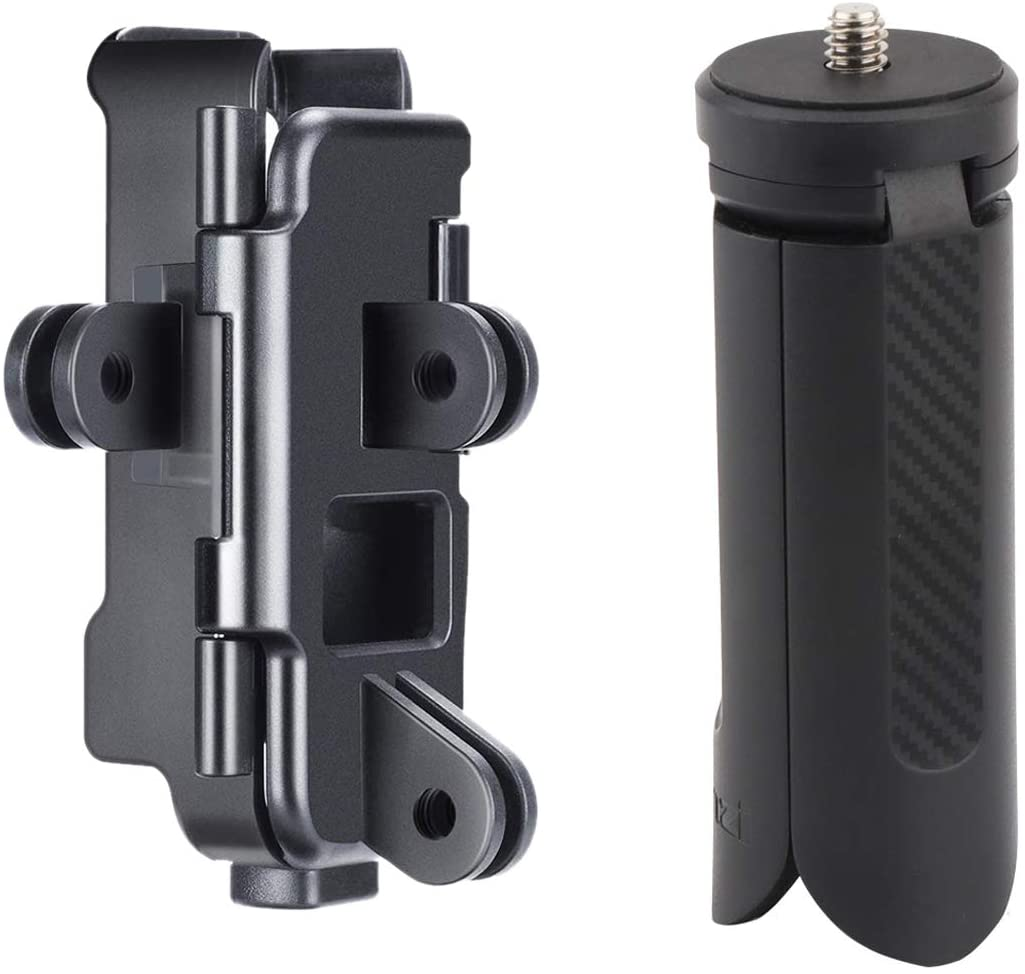 AFVO Action Mount for DJI Osmo Pocket, Also Comes with Mini Tripod Stand