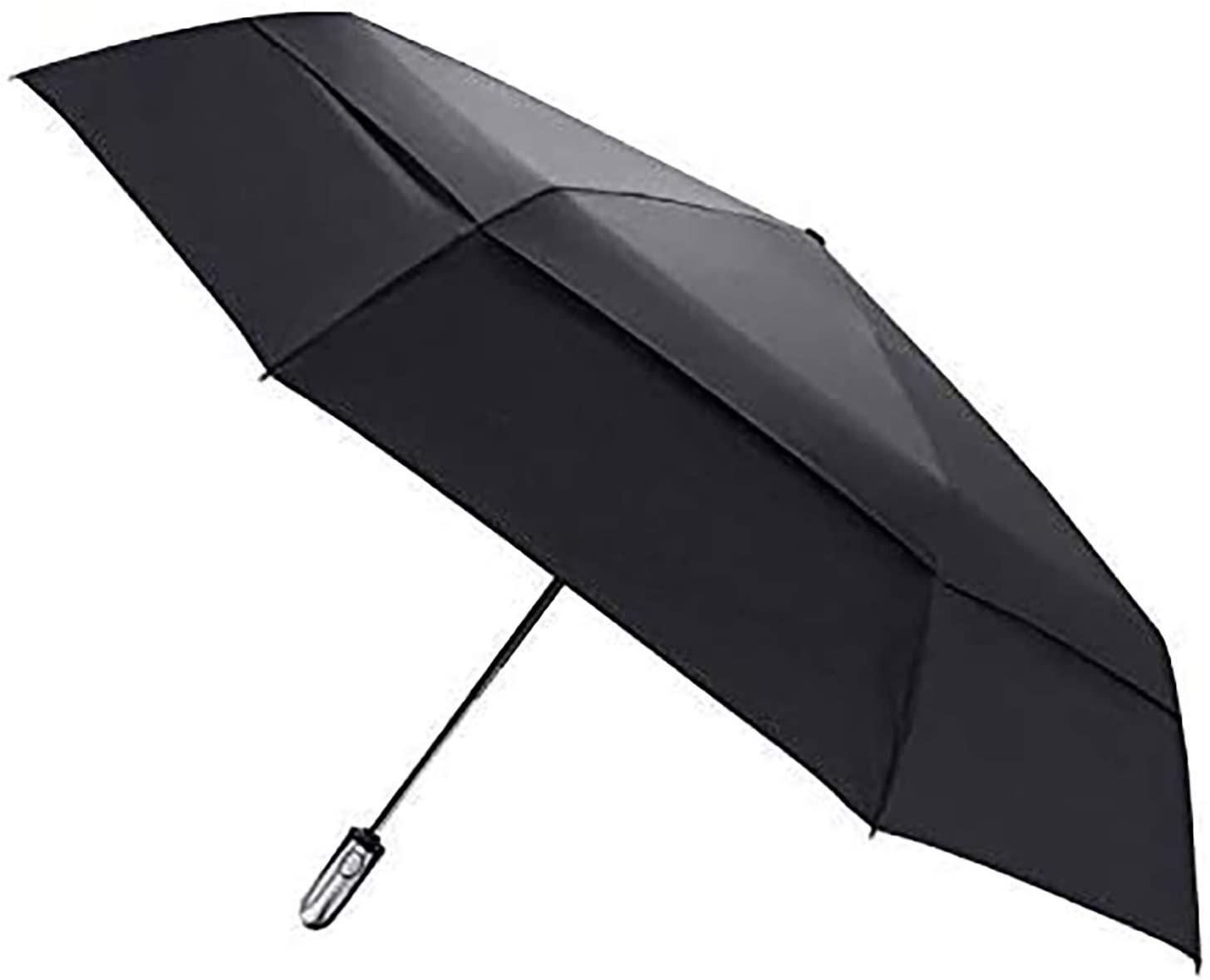 boy 54 Inch Large Golf Umbrella - Vented Windproof Double Canopy Auto Open Close Folding Golf Umbrella, 210T Dupont Teflon Coating