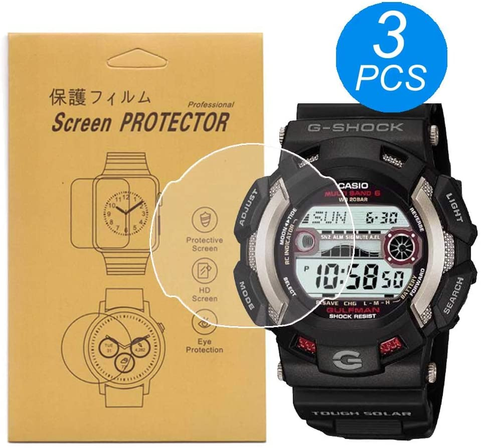 [3-Pcs] for Casio GW-9110 GW-9100 G-9100 Screen Protector,Full Coverage Screen Protector HD Clear Anti-Bubble and Anti-Scratch