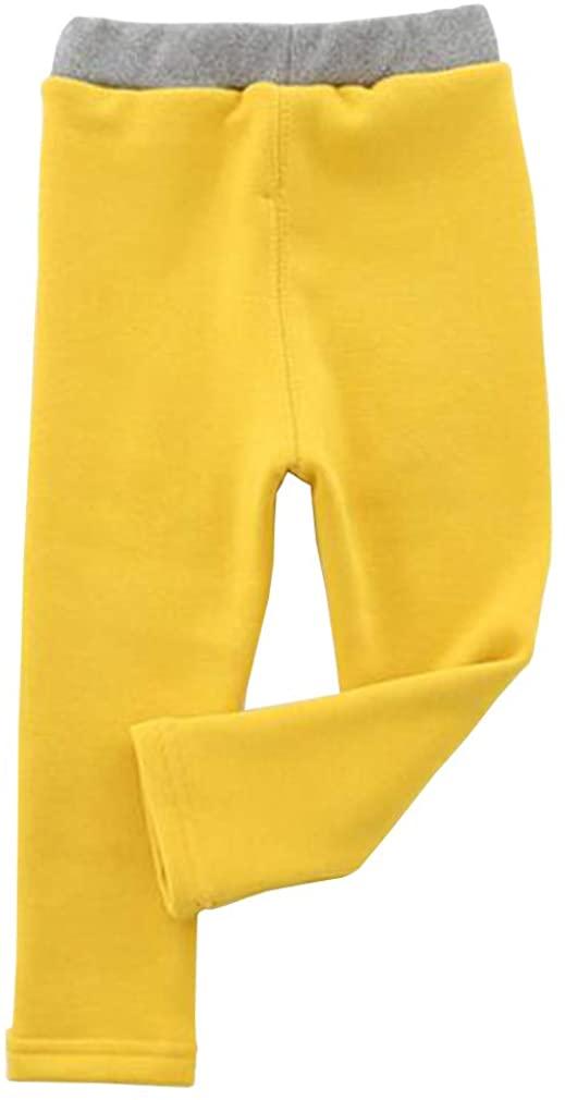 Niyage Toddler Fleece Lined Thick Soft Leggings Baby Girl Winter Warm Pants